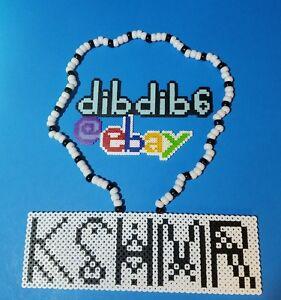 Details about KSHMR kandi perler necklace rave EDC PLUR melty hama art bead  melty festival