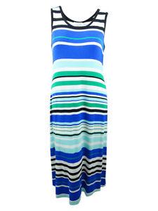 Calvin-Klein-Women-039-s-Plus-Size-Striped-Maxi-Dress