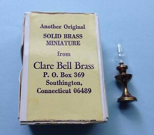 Clare-Bell™ Brass Works dollhouse miniature HURRICANE LAMP non-electric 1:12 EUC