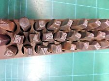 """1-set A-Z ,& LETTER Punch Marking Stamps steel letters 1/4"""" LARGE SIZE ACE BRAND"""