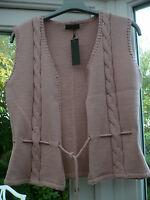 Designer Anna's Pull Knitted Waistcoat Size M Chose Pink Or Brown Bnew