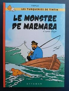 PASTICHE-TINTIN-Le-Monstre-de-Marmara-Cartonne-46-pages-couleurs-Ed-Ottoman