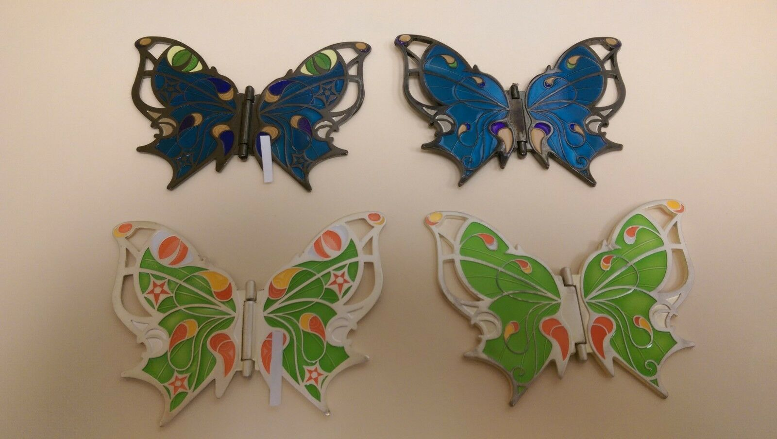 Cats Eye Butterfly Geocoin BN   bluee Movable Unactivated