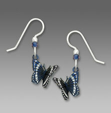 Sienna Sky Blue and White BUTTERFLY EARRINGS Sterling Silver USA - Gift Boxed