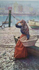 YOUNG-WOMAN-Fisherman-039-s-Girl-1904-COLOR-Art-Nouveu-Era-Print
