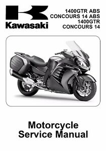 Details about Kawasaki GTR 1400 Concours 14 2010 - 2017 service repair on