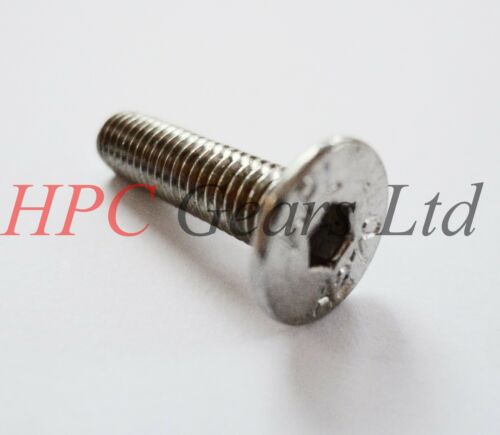 8 x M8 x 16mm long Stainless Front Rear Brake Disc Retaining Screw HPC Gears