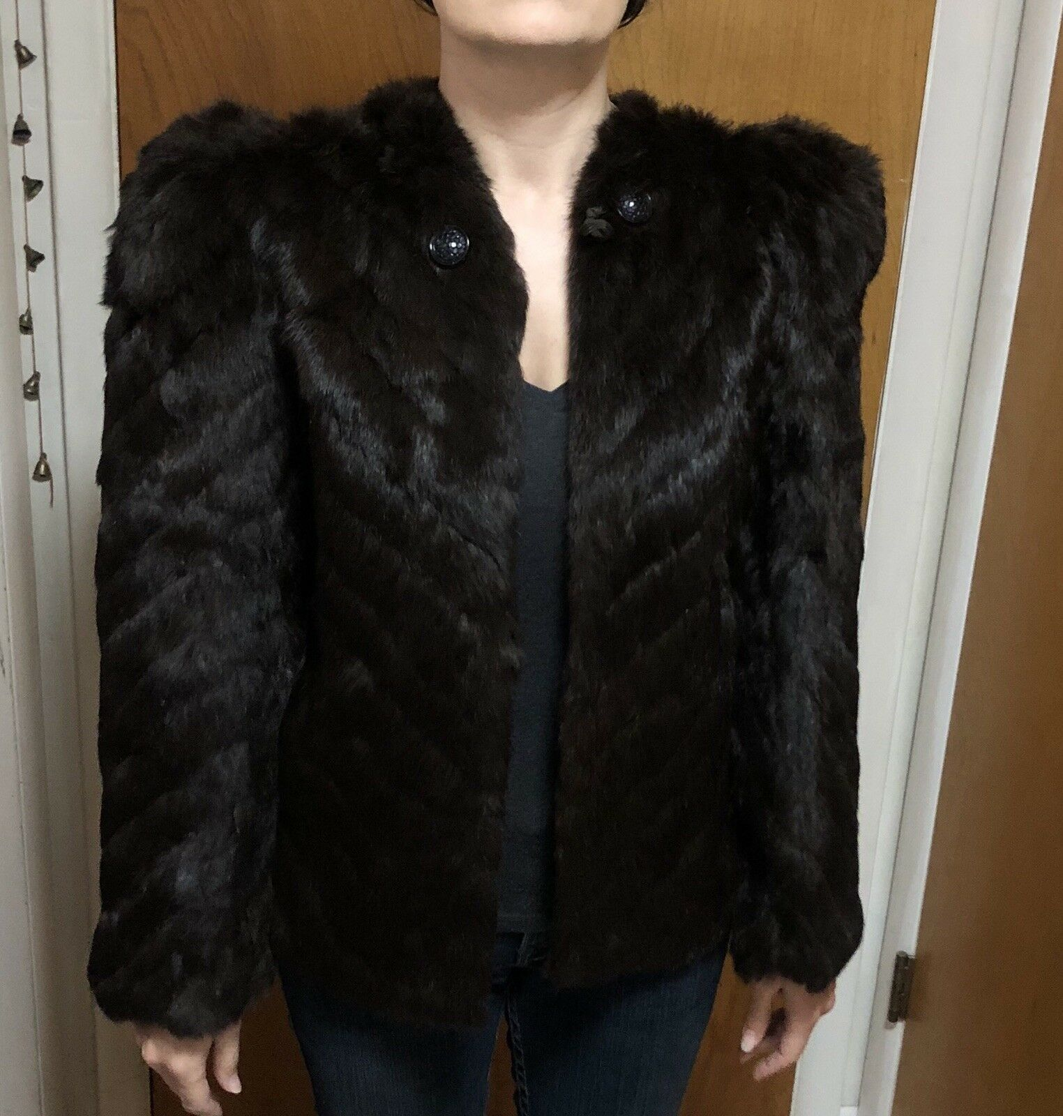 Stunning Vintage Women's Short Brown Mink Fur Coat