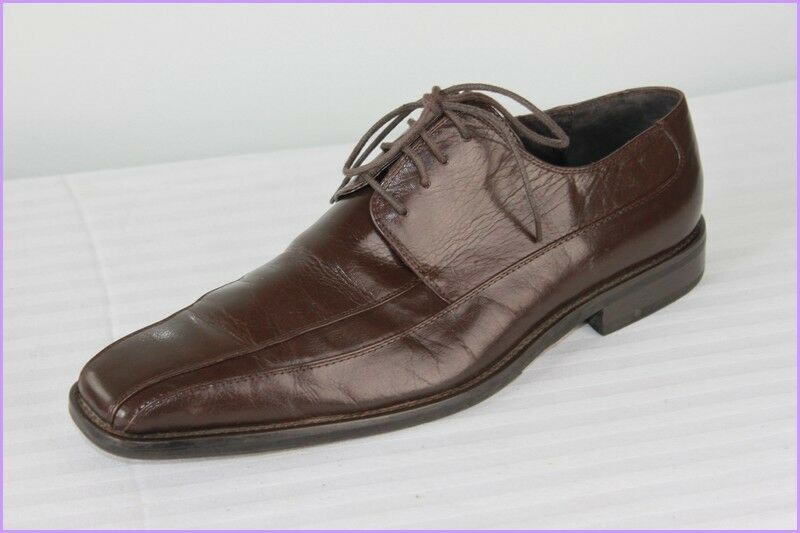 Derby shoes Lace Pascal Morabito Leather Dark Brown T 43 Very Good Condition