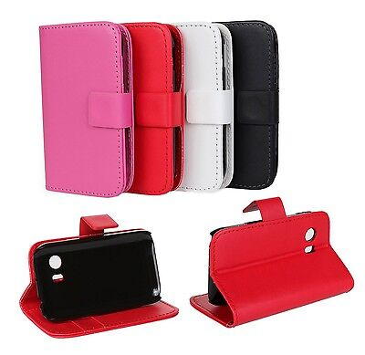 F SAMSUNG GALAXY Y S5360 Stand Folio Wallet Leather Card Holder Hard Case Cover