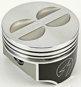 """TRW Forged Flat Top Chevy 350 SBC Pistons std bore 4.00/"""" Set Of 8"""