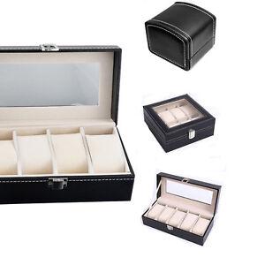 1-4-5-8Slots-Leder-Uhren-Box-Uhrenverpackung-Etui-Display-Organizer-Armband-Box