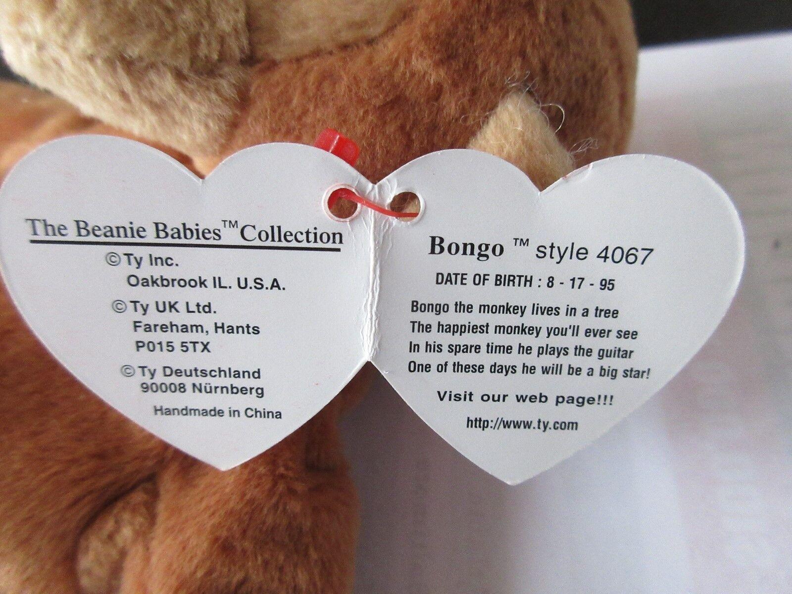 TY TY TY Beanie Baby , Original , BONGO , Style 4067 , 1995 TY INC. cd1cb4
