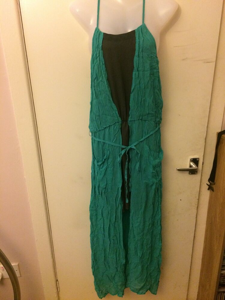 Femmes Taille 12 Robe Longue Bnwt Label Lab Vacances D'été Rrp £ 75 Free Uk Post