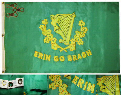 3x5 Embroidered Sewn Sons Of Erin 600D 2ply Nylon Flag 3/'x5/'