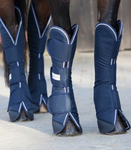 Transportgamaschen WH Comfort Line Pony Vollblut Warmblut blau  4 er Set Pferd