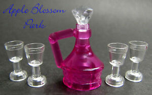 LEGO 4 Translucent TRANS PINK CUP Minifig Kitchen Dishes Belville Friends Town