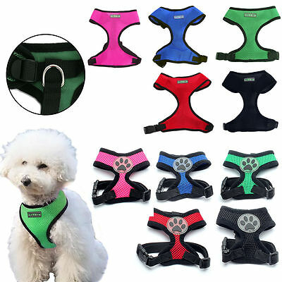 Small Dog / Cat / Pet Control Harness Soft Mesh Dog Harness Safety Strap Vest US