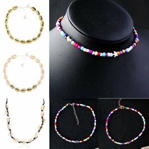 Hot-Boho-Beach-Bohemian-Sea-Shell-Pendant-Chain-Choker-Necklace-Women-Jewelry