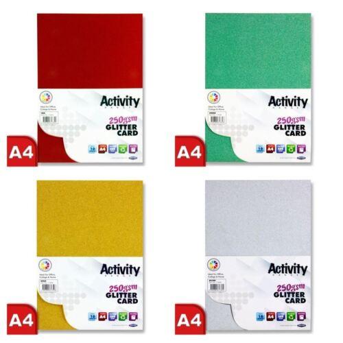 *OFFER* Premier Art Craft A4 250gsm Dense Coloured Sparkle Glitter Card Range