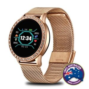 Fashionable-Women-Sports-Waterproof-Heart-Rate-Bluetooth-IOS-Android-Smartwatch