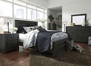 Image Is Loading SALINAS Modern Cottage Gray 5pcs Bedroom Set Furniture