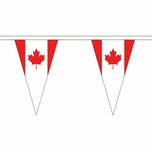 Canada Small Triangle Bunting 12 flags on this 5 meter Long Bunting