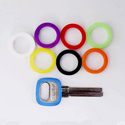 8pc Hollow Silicone Key Top Cap Cover Topper Keyring ID Marker Tag Bly Braille A