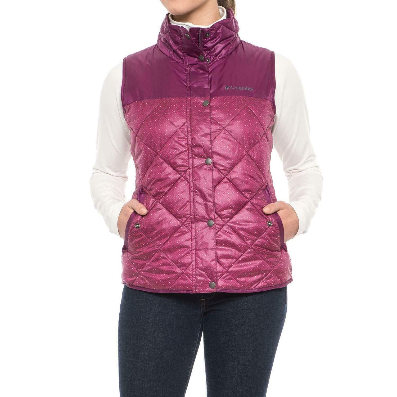 Columbia Rio Dulce Vest Insulated Dark Raspberry Plus Size 1X NEW with tag