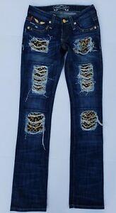 24 Jeans Robins Marilyn Jean gw Nye Straight spac8072gold Studded Sz Kvinder wHqqpIP