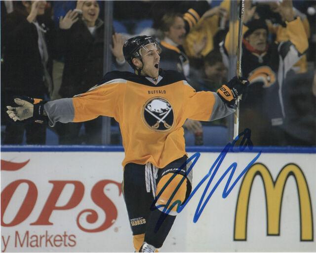 Buffalo Sabres Zemgus Girgensons Signed Autographed Photo 8x10 COA A