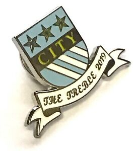 Manchester City Anstecknadel Treble 2019 Fußball Gewinner