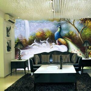 3D Pfau Baum Zweig 86 Tapete Tapeten Mauer Foto Familie Tapete Wandgemälde DE