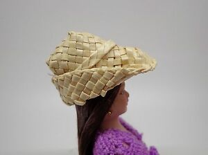 1-12-Scale-Woven-Straw-MN-Hat-Doll-House-Miniature-Accessory