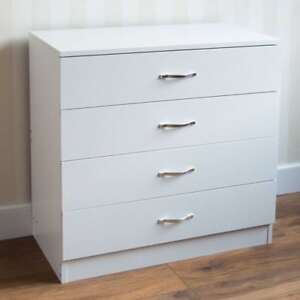 Riano-Chest-Of-Drawers-White-4-Drawer-Metal-Handles-Runners-Bedroom-Furniture