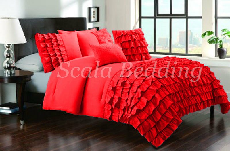 Half ruffle  Duvet Cover 800 TC Egyptian Cotton All Size & color
