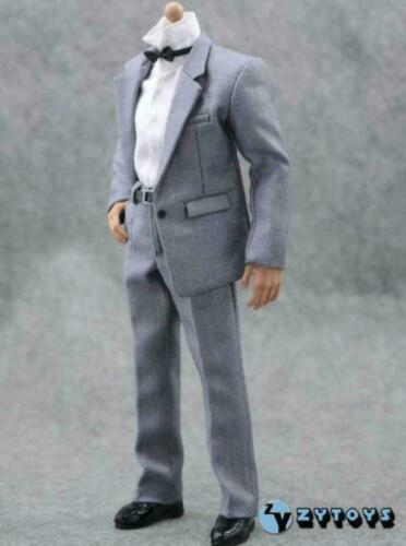 "Échelle 1//6 couleur grise Business Costume Set Pour 12/"" Hot Toys figure masculine"
