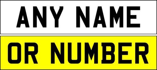 Pegar en número de matrícula Reflectante Blanco cualquier texto Envío Gratis ** vendedor del Reino Unido