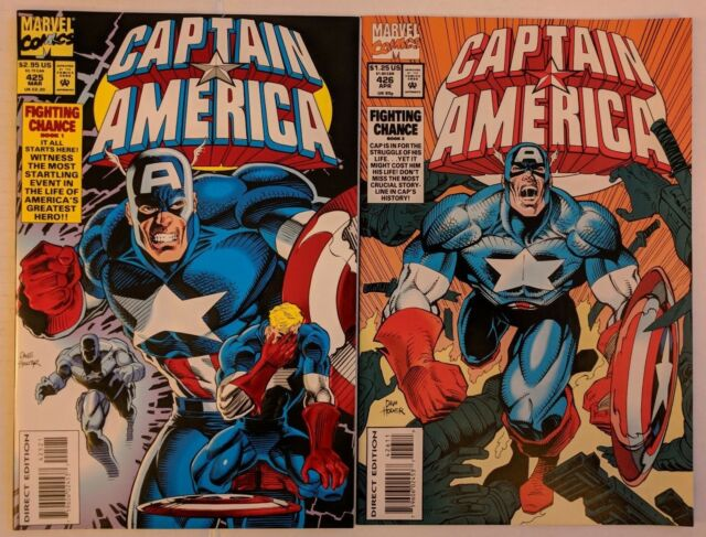 Captain America #425 & 426 Marvel Comic 1994 Fighting Chance Mark Gruenwald