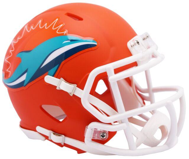 factory price 31f64 b6d7b Riddell NFL Miami Dolphins AMP Alternate Speed Mini Football Helmet NOW  SHIPPING