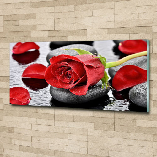 Glas-Bild Wandbilder Druck auf Glas 125x50 Deko Blumen /& Pflanzen Rote Rose