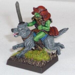 Goblin-wolfrider-CON-KATANA-Warhammer-Fantasy-Esercito-28mm-non-dipinti-Wargames