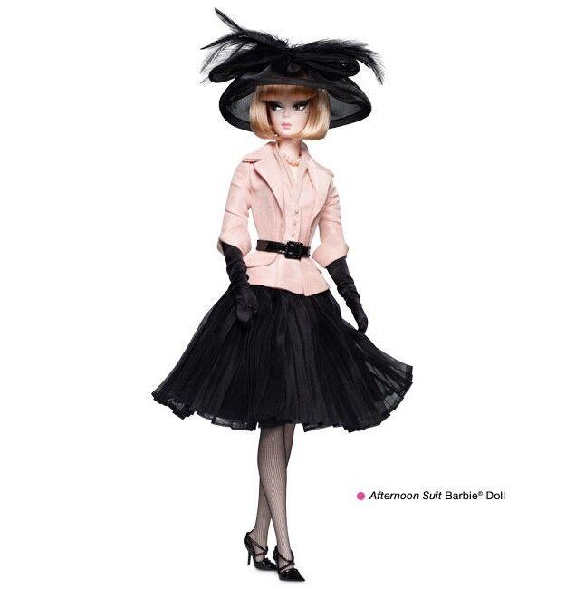 Muñeca Barbie Exclusivo Traje de la tarde 2012 oro Label Barbie remitente  W3503