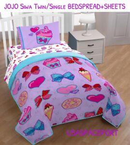 4 Piece Jojo Siwa Bows Bedspread Sheets Set Twin Single Bed