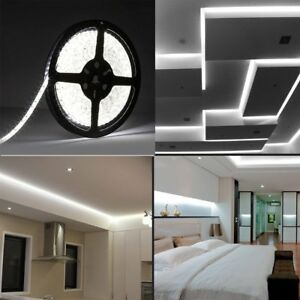 Details About White 1m 5m Led Light Strip Tape Cabinet Kitchen Lighting Mood Lamp Waterproof