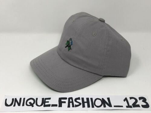 PALACE SKATEBOARDS SS15 6 PANEL P CAMP HAT CAP GREY MINI PARROT CURVED PEAK 2015
