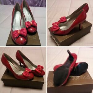 shoes scarpe donna decolte in vernice lucide rosse tacco medio basso ebay dettagli su shoes scarpe donna decolte in vernice lucide rosse tacco medio basso