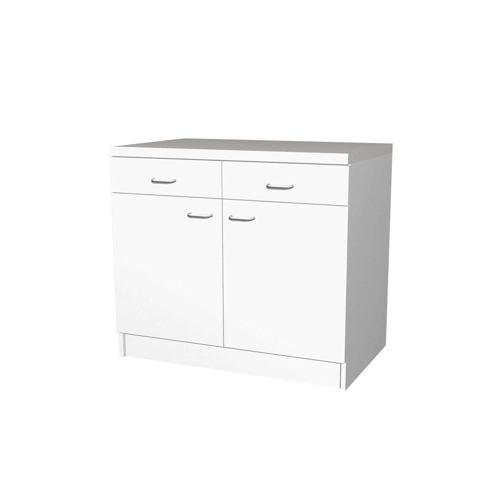 Unterschrank BOCHUM Küchenmöbel Küchenschrank weiss cm 100 ...