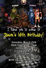 Custom Five 5 Nights at Freddy's Video Game Birthday Party Invitations U Print