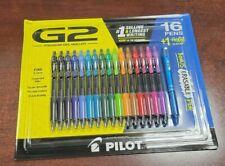 Pilot G2 Premium Gel Ink Roller Pen Assorted Ink 16 Pack Frixion Erasable Pen